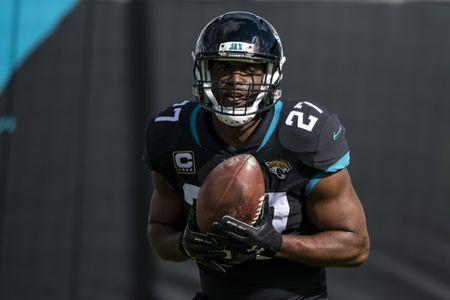 FILE PHOTO: Dec 16, 2018; Jacksonville, FL, USA; Jacksonville Jaguars running back Leonard Fournette (27) warms up prior to a game between the Jaguars and the Washington Redskins at TIAA Bank Field. Mandatory Credit: Douglas DeFelice-USA TODAY Sports