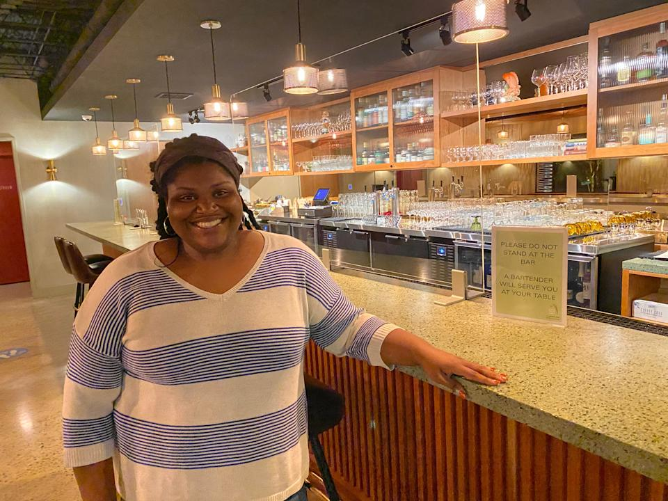 <p>Twenty-six-year-old Marian Belk, a Raleigh native, says young voters are not complacent this year.</p>Richard Hall / The Independent