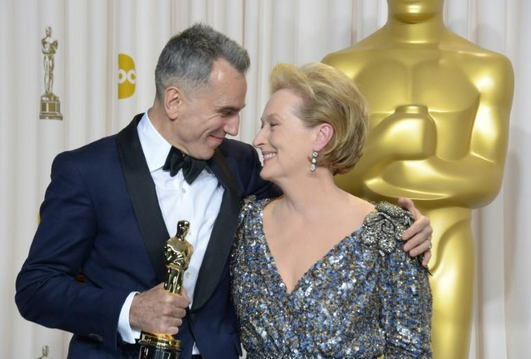 Three-time Oscar winners Daniel Day-Lewis and Meryl Streep -- shown here at the 2013 ceremony -- are once again in the running for Academy Awards