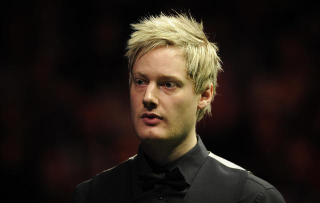 Neil Robertson of Australia is pictured during the semi-final match against Judd Trump of England in the BGC Masters snooker tournament at Alexandra Palace in north London on January 21, 2012. Robertson went on to win the match 6-3. AFP PHOTO / CARL COURT (Photo credit should read CARL COURT/AFP/Getty Images)