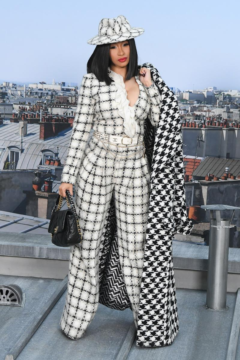 Cardi B gives Chanel's Spring bag a test run.