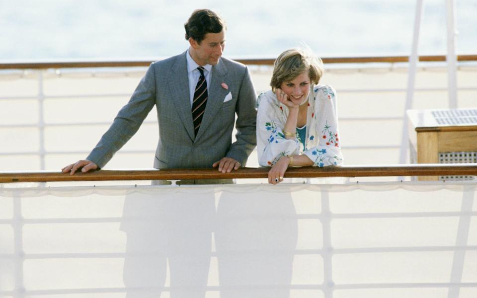 Prince Charles, Prince of Wales with Diana, Princess of Wales  - TIM GRAHAM/GETTY