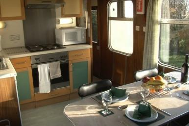 Train carriage kitchen