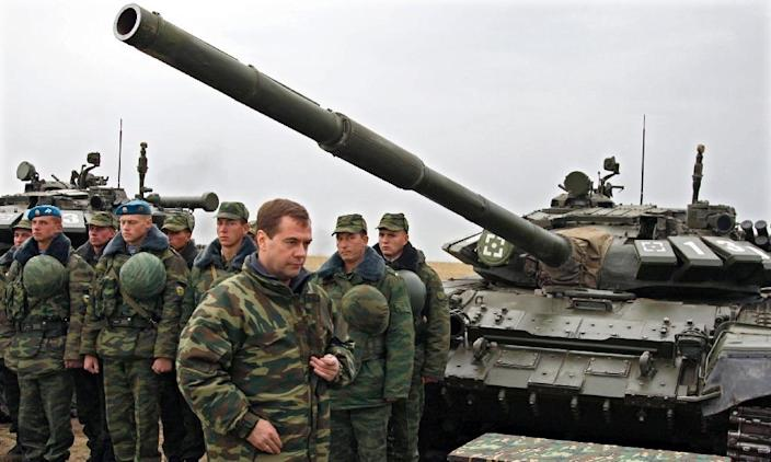 Russia's alliance with Syria goes back half a century, with many Syrian military officers receiving training there and Moscow maintaining a naval base in the port of Tartus (AFP Photo/Dmitry Astakhov)