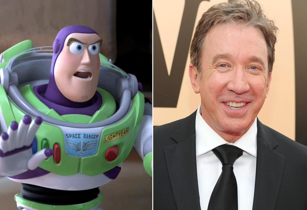 "BUZZ LIGHTYEAR/<a href=""http://movies.yahoo.com/movie/contributor/1800021848"">TIM ALLEN</a>  Though Tim Allen played Buzz Lightyear for the first two movies, he voices the toy rocket man for only part of ""Toy Story 3."" The other part is done by Javier Fernandez Pena when Buzz is stuck in Spanish mode."