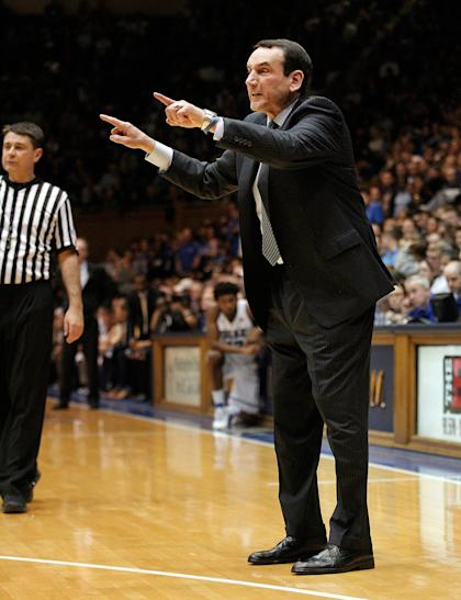 Coach K will go for victory No. 1,000 on Sunday. (USAT)