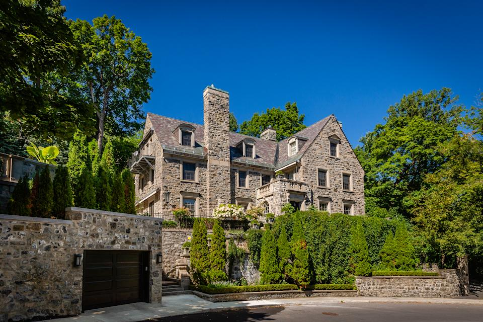 It was built in 1924, but clearly time hasn't taken a toll. It has a 14-car garage and sits on nearly 30,000 square feet of private, landscaped land at the foot of Mount Royal in the heart of Montreal. Location, location, location.