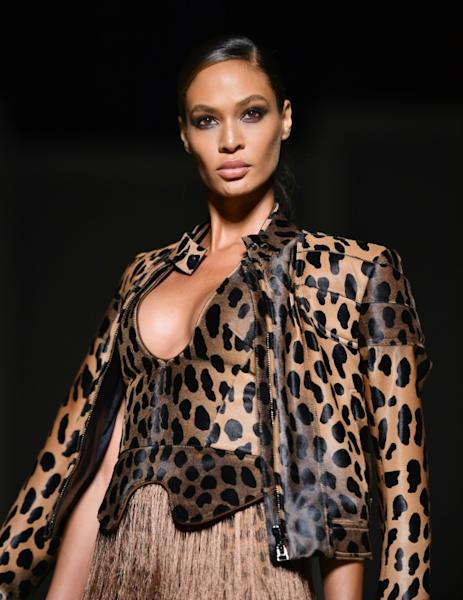 Puerto Rican model Joan Smalls walks the runway at the New York Fashion Week