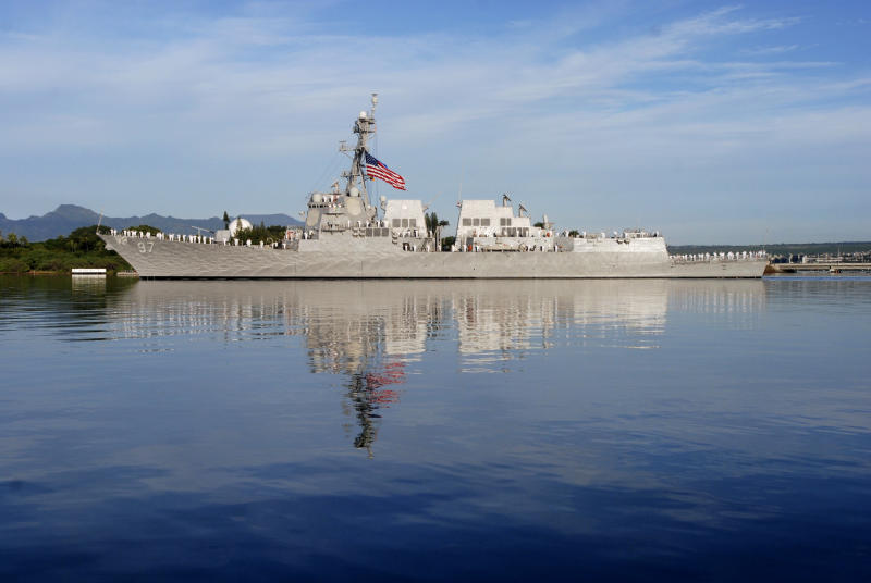 U.S. warship transits Taiwan Strait for second time in two weeks