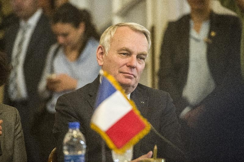 French Foreign minister Jean-Marc Ayrault pictured on March 9, 2016, will host a meeting of foreign ministers from 20 countries on May 30 (AFP Photo/Khaled Desouki)