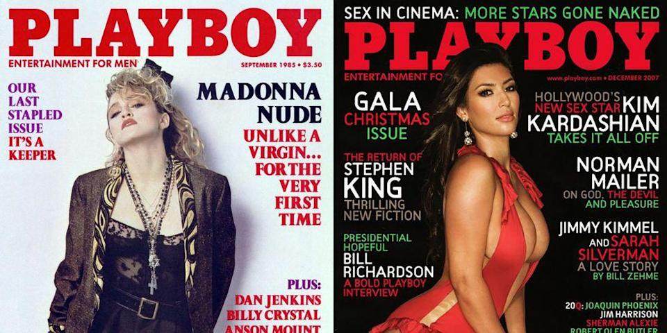 <p>For many icons, from Madonna to Naomi Campbell, a <em>Playboy </em>cover is a rite of passage. The photos are visceral, tantalizing, and for many celebrities, incredibly empowering. Marilyn Monroe kicked off the trend in 1953 as the first-ever <em>Playboy </em>cover star, and dozens of icons since have adorned the cover of the magazine, now a byword for unapologetic sexiness. If you forgot about the icon covers from Kim Kardashian, Anna Faris, Brooke Shields, and more, well—we're here to remind you. Let's take a trip down memory lane, shall we?</p>