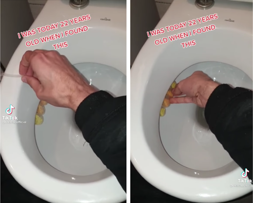 This toilet cleaning hack is questionable to say the least... Photo: TikTok