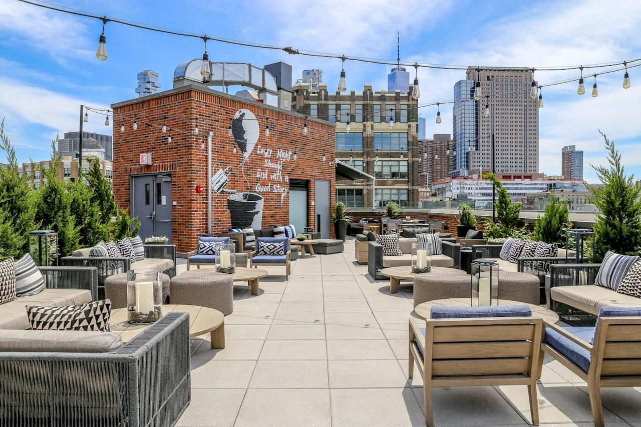 """<p>Just north of Canal Street with breezy views of the Hudson River, this rooftop spot perched atop the <a href=""""https://www.arlohotels.com/arlo-soho/eat-and-drink/arlo-roof-top/"""" target=""""_blank"""">Arlo SoHo</a> hotel has both indoor and outdoor options for year-round views. During the summer months, expect to see slushy glasses of their house-blend frosé in every hand as cool downtown kids and office workers alike gather to watch the sunset. </p>"""