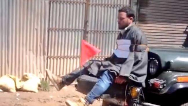 Video of Kashmiri Youth Tied to Army Jeep Sparks Outrage, Probe On