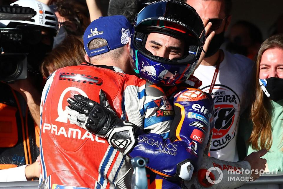"Jack Miller, Pramac Racing, Miguel Oliveira, Red Bull KTM Tech 3<span class=""copyright"">Gold and Goose / Motorsport Images</span>"