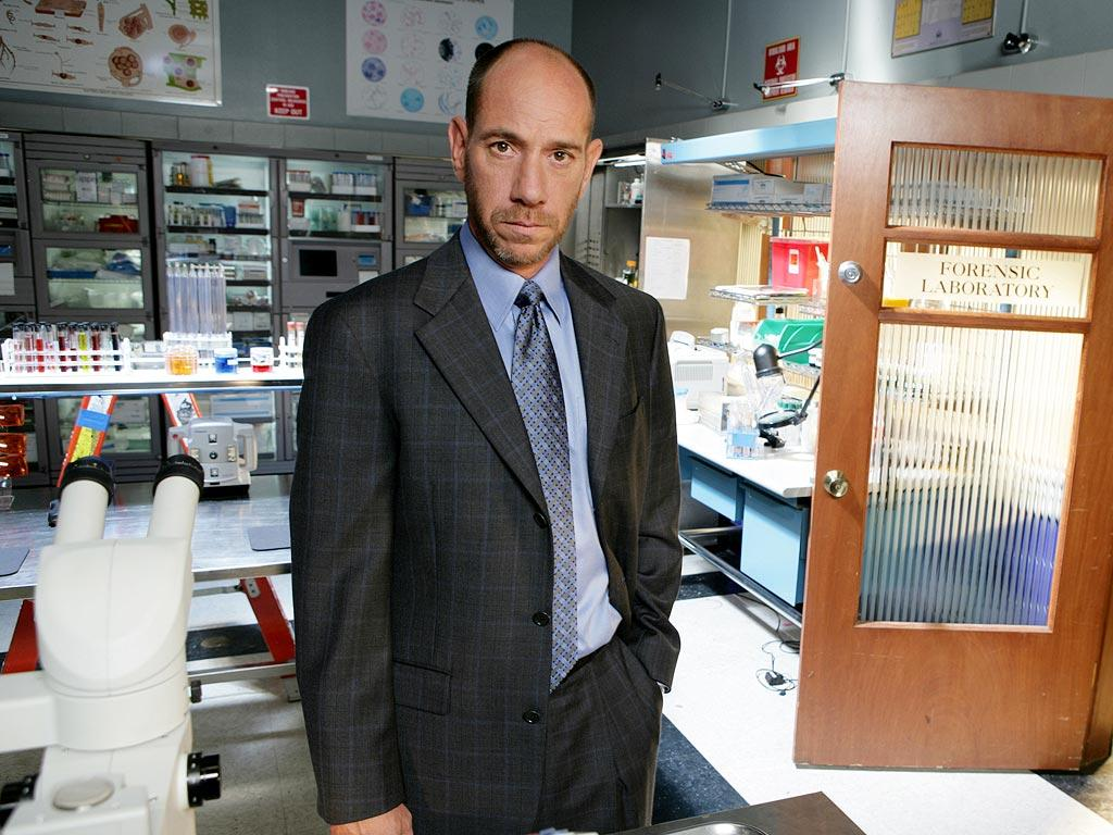 Miguel Ferrer stars as Dr. Garret Macy in Crossing Jordan on NBC.