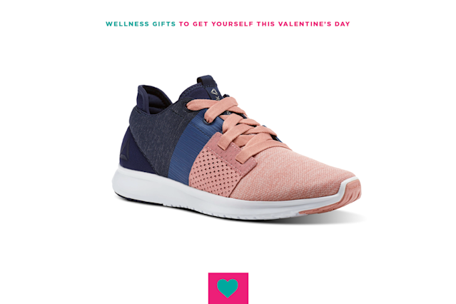 "<p>Running is good for your body and your brain, and do you know what's good for your happiness levels? Looking down while you jog and seeing the cute pink toes of your new running shoes. $80, <a href=""http://www.reebok.com/us/reebok-trilux-run/CN1100.html"" rel=""nofollow noopener"" target=""_blank"" data-ylk=""slk:Reebok"" class=""link rapid-noclick-resp"">Reebok</a>. </p>"