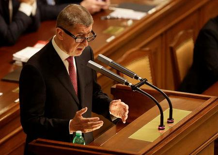 Czech Prime Minister Andrej Babis attends a parliamentary session during a confidence vote for the newly appointed government he leads, in Prague, Czech Republic January 10, 2018. REUTERS/David W Cerny