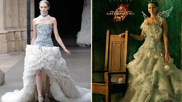 Alexander McQueen Fall '11 gown, Katniss Everdeen (Jennifer Lawrence) from 'The Hunger Games: Catching Fire'