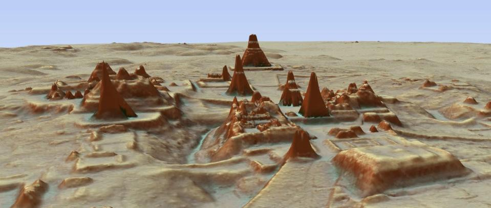 High-tech mapping suggests 10 million people may have lived in a lost city in modern day Guatemala.