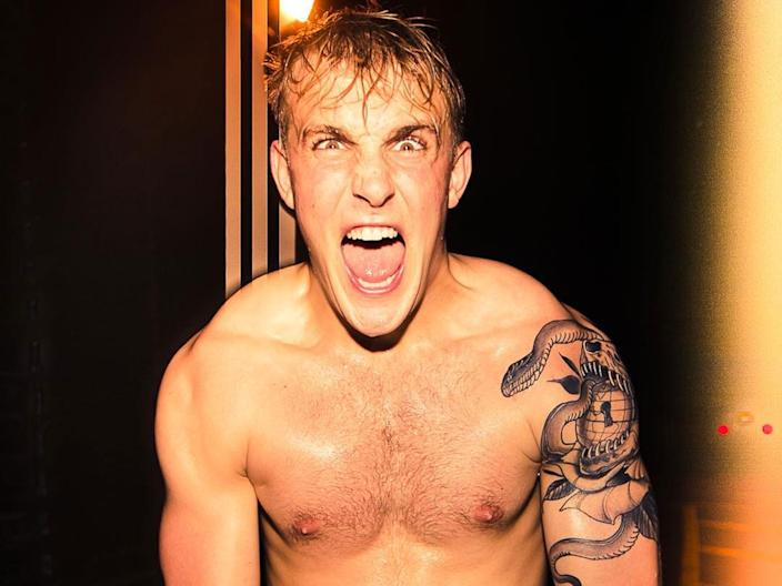 Jake Paul in a promo for an upcoming boxing match.