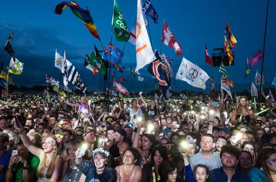 Crowd at Glastonbury Festival (Getty Images)