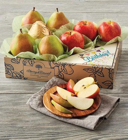 Harry & David Birthday Pears and Apples Gift