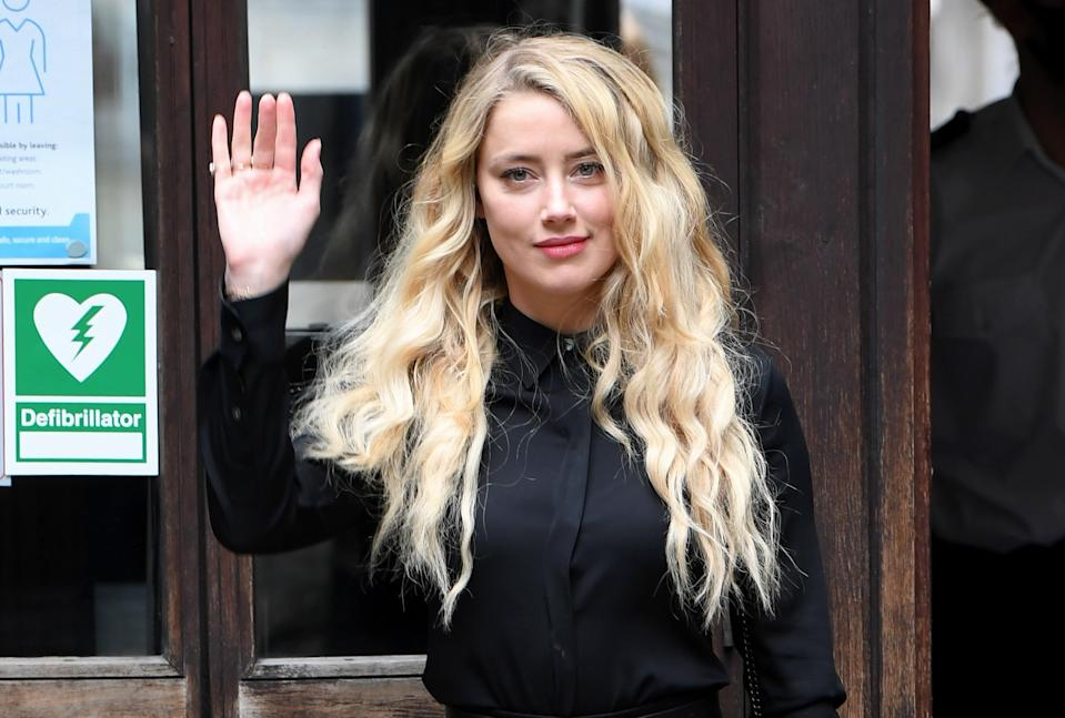 File image: Amber Heard at the Royal Courts of Justice, the Strand on 28 July 2020 in London, England (Getty Images)