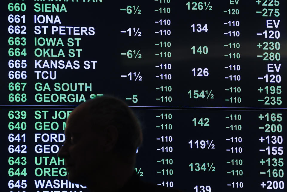 Sports betting was available in more states than ever in 2020. (AP Photo/Paul Sancya)