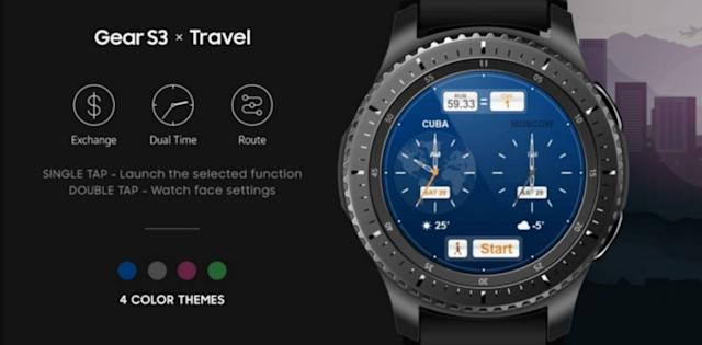 Samsung Travel watchface for Gear S3