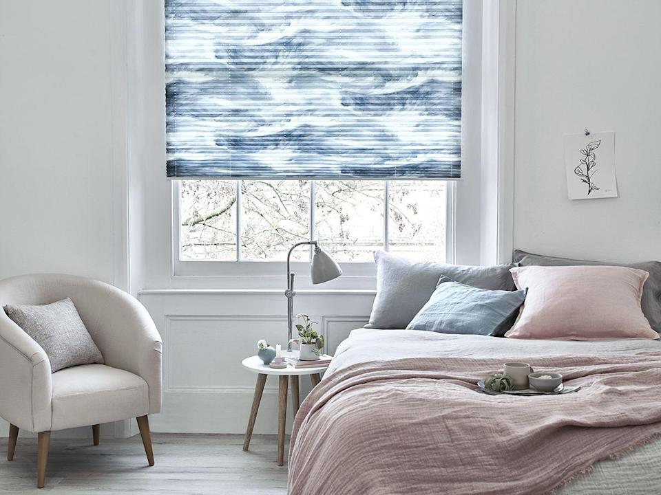 """<p>A winning combination in the bedroom, grey and pink work wonderfully when tones are kept light. Blush pink throws, such as this gorgeous style from <a href=""""https://go.redirectingat.com?id=127X1599956&url=https%3A%2F%2Fdusk.com%2Fchamonix-throw-1-5m-x-1-8m-pink.html&sref=https%3A%2F%2Fwww.housebeautiful.com%2Fuk%2Fdecorate%2Fbedroom%2Fg37103497%2Fpink-grey-bedroom%2F"""" rel=""""nofollow noopener"""" target=""""_blank"""" data-ylk=""""slk:Dusk"""" class=""""link rapid-noclick-resp"""">Dusk</a>, look beautiful when draped over grey bedsheets. </p><p>• Ripple Blue pleated blind, <a href=""""https://www.hillarys.co.uk/products/ripple-blue-pleated-blind/"""" rel=""""nofollow noopener"""" target=""""_blank"""" data-ylk=""""slk:House Beautiful collection at Hillarys"""" class=""""link rapid-noclick-resp"""">House Beautiful collection at Hillarys</a></p><p><strong>READ MORE</strong>: <a href=""""https://www.housebeautiful.com/uk/decorate/bedroom/g26567517/small-bedroom-ideas/"""" rel=""""nofollow noopener"""" target=""""_blank"""" data-ylk=""""slk:18 small bedroom ideas to fall in love with"""" class=""""link rapid-noclick-resp"""">18 small bedroom ideas to fall in love with</a></p>"""