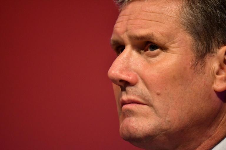 Britain's main opposition Labour Party leader Keir Starmer accused Johnson of reducing the country to 'chaos' (AFP/JUSTIN TALLIS)