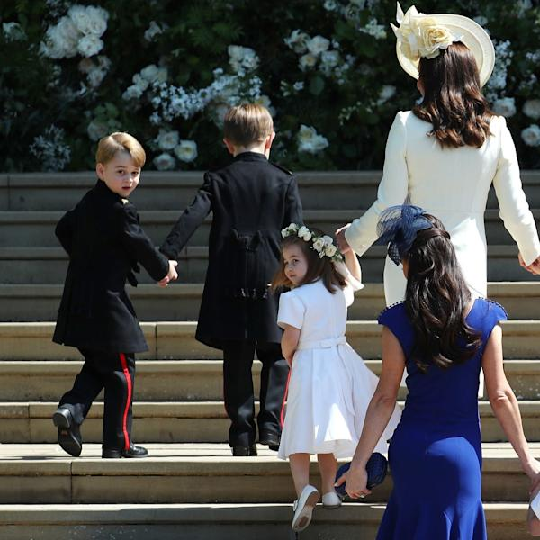 Prince George and Princess Charlotte were front and center during Prince Harry and Meghan Markle's wedding.