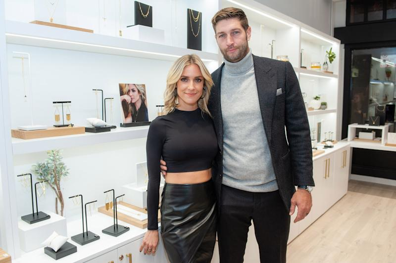 Kristin Cavallari and Jay Cutler attend the Uncommon James VIP Grand Opening at Uncommon James on October 25, 2019 in Chicago, Illinois. (Photo by Timothy Hiatt/Getty Images)