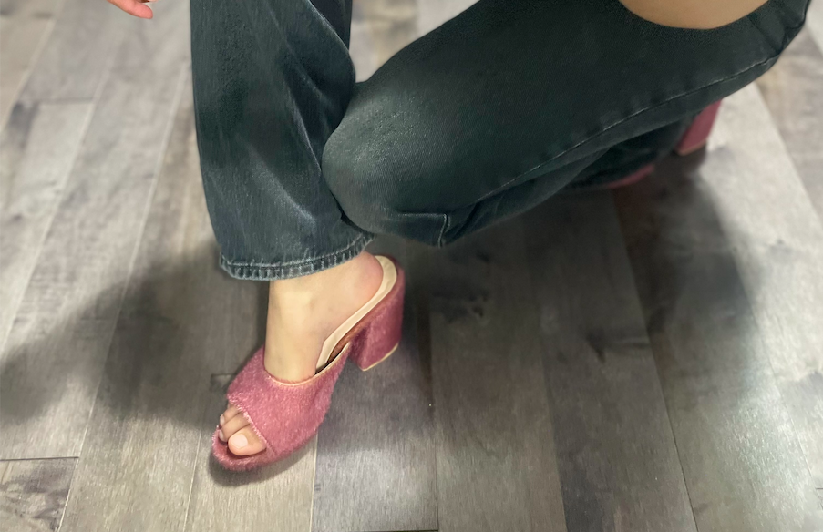 I tried the heeled mules from ARCH