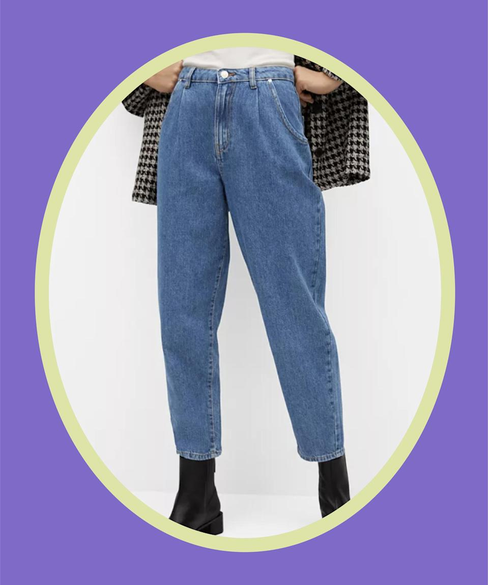 """<br><br><strong>Mango</strong> Regina Slouchy Jeans, $, available at <a href=""""https://go.skimresources.com/?id=30283X879131&url=https%3A%2F%2Fwww.macys.com%2Fshop%2Fproduct%2Fmango-womens-regina-slouchy-jeans%3FID%3D11909116%26CategoryID%3D68514"""" rel=""""nofollow noopener"""" target=""""_blank"""" data-ylk=""""slk:Macy's"""" class=""""link rapid-noclick-resp"""">Macy's</a>"""