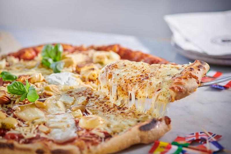 You can even order the Quarantuno Formaggi pizza to be delivered to your fancy dress party [Photo: SpareRoom]