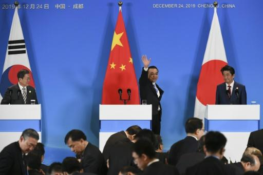 Chinese Premier Li Keqiang hosts the leaders of Japan and South Korea, with their nations focused on North Korea's nuclear ambitions