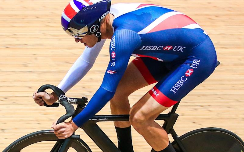 Chris Latham won bronze in the scratch race at the track Worlds in Hong Kong - Rex Features