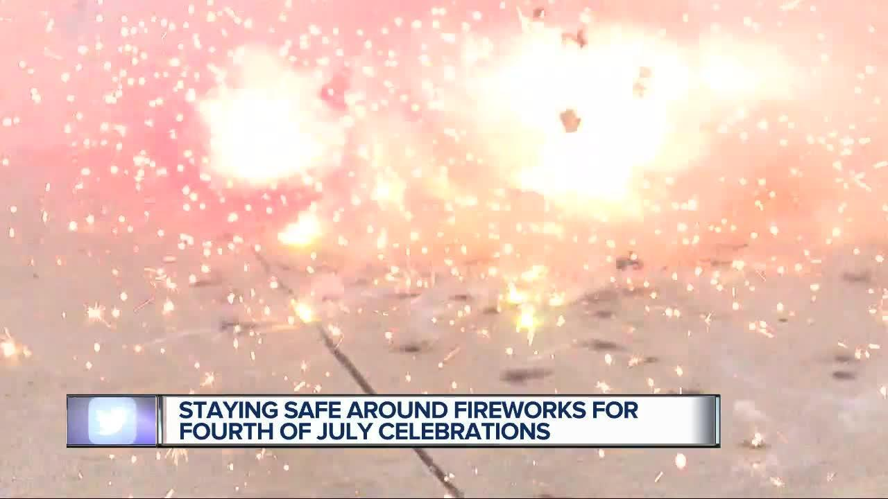 Staying safe around fireworks for Fourth of July celebrations