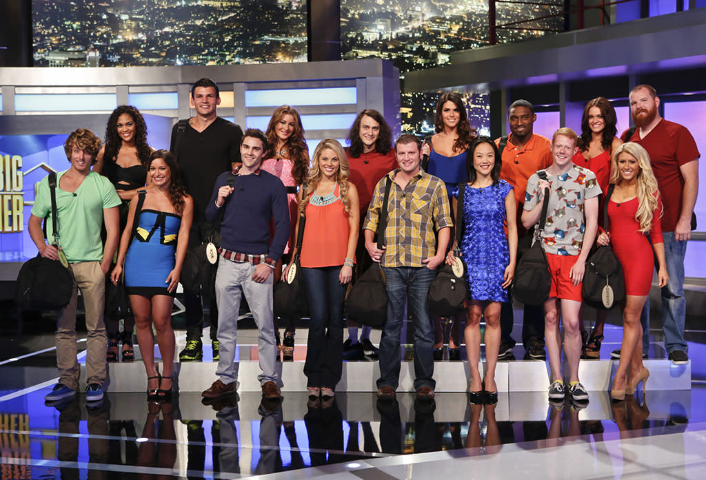 The houseguests get ready to enter the the Big Brother house for the first time.