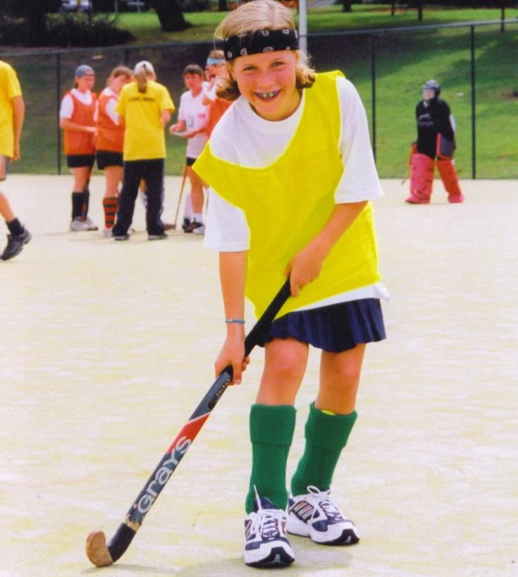 Georgie - pictured on a Sport England Talent Camp in Loughborough - showed an early aptitude for the sport aged 11