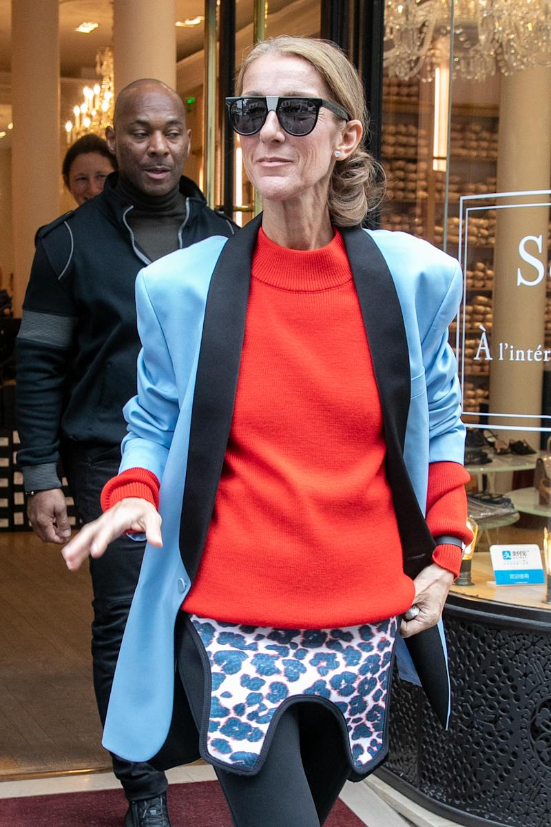 Celine Dion Is Wearing Scuba Gear as Clothes Now