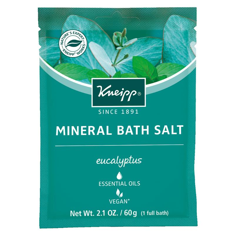 """<p>Colds make you feel miz in every way. Your plans are shot. Your head feels like an elephant is sitting on it. Your nose is a running faucet. But believe it or not, your bath can help. These bath salts are made with eucalyptus oil, which is an ingredient with a soothing scent that helps open up your airways so you can breathe a little easier. Dump the whole package in a hot bath and sink into bliss. </p> <p>$4 