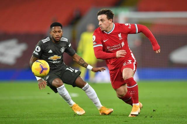 Liverpool foward Xherdan Shaqiri in action against Manchester United