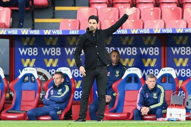 Arsenal manager Mikel Arteta, pictured, says Joe Willock will return to the club at the end of the season (Facundo Arrizabalaga/PA)