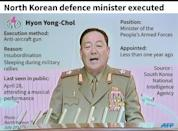 Factfile on Hyong Yong-Chol, North Korean defence minister reportedly executed in Pyongyang, according to South Korean intelligence