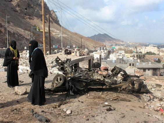 Human Rights Watch has detailed multiple instances of cluster bombs being used in Yemen (Getty)