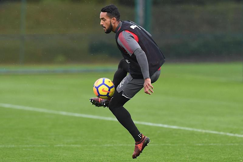 Selection doubt | Walcott was not part of the Arsenal squad for Saturday's north London derby: Arsenal FC via Getty Images
