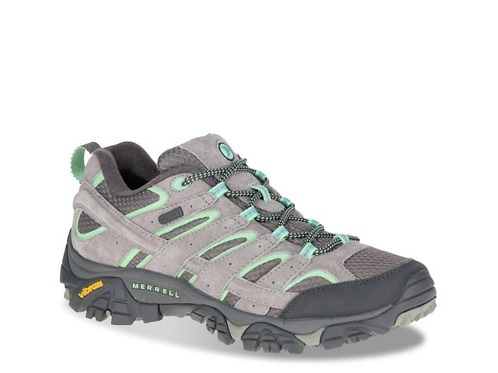"<br> <br> <strong>Merrell</strong> MOAB 2 Waterproof Shoe, $, available at <a href=""https://go.skimresources.com/?id=30283X879131&url=https%3A%2F%2Fwww.dsw.com%2Fen%2Fus%2Fproduct%2Fmerrell-moab-2-waterproof-hiking-shoe%2F423479%3FactiveColor%3D030"" rel=""nofollow noopener"" target=""_blank"" data-ylk=""slk:DSW"" class=""link rapid-noclick-resp"">DSW</a>"